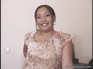 Asian housewife hot blowjob