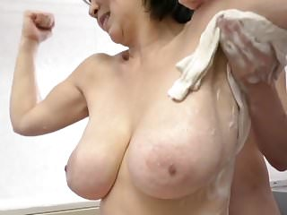 Japanese big titted mom